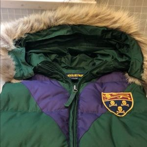 Ralph Lauren Rugby Down hooded vest women's small